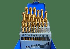 Комплект покрити TIN свредла за метал HSS Image